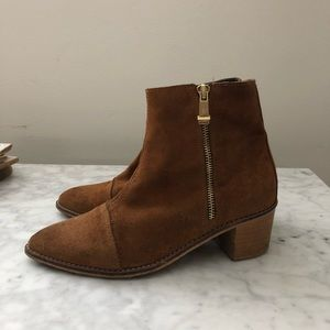 Nordstrom Report Signature Suede Camel Boots
